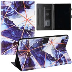 Starry Blue Stitching Color Marble Leather Flip Cover for Amazon Fire HD 10(2015)