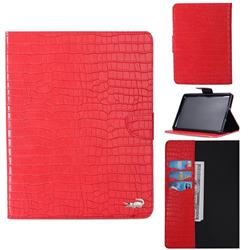 Retro Crocodile Tablet Leather Wallet Flip Cover for Amazon