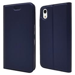 Ultra Slim Card Magnetic Automatic Suction Leather Wallet Case for Android One S4 - Royal Blue