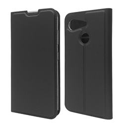 Ultra Slim Card Magnetic Automatic Suction Leather Wallet Case for Kyocera Android One S6 - Star Grey