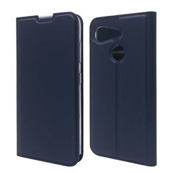 Ultra Slim Card Magnetic Automatic Suction Leather Wallet Case for Kyocera Android One S6 - Royal Blue
