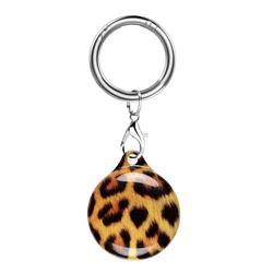 Soft TPU IMD Key Ring Secure Holder Case for Apple AirTag - Big Leopard