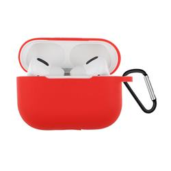 Dust-proof Candy Soft Silicone Hot Red for Apple AirPods Pro / Airpods 3 - Hot Red