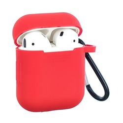 Non-slip Soft Silicone Case for Apple AirPods - Red