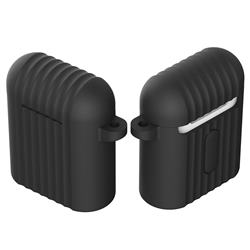 Shockproof Anti-fall Antifouling Silicone Protective Case for Apple AirPods - Black