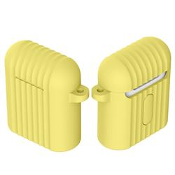 Shockproof Anti-fall Antifouling Silicone Protective Case for Apple AirPods - Yellow