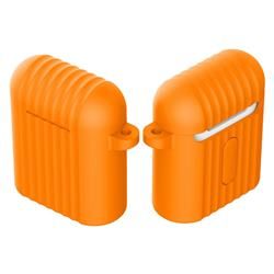 Shockproof Anti-fall Antifouling Silicone Protective Case for Apple AirPods - Orange