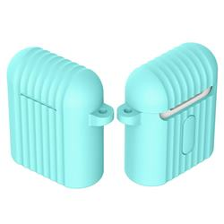 Shockproof Anti-fall Antifouling Silicone Protective Case for Apple AirPods - Mint Green