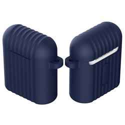 Shockproof Anti-fall Antifouling Silicone Protective Case for Apple AirPods - Navy