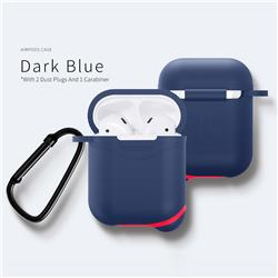 Waterproof Mountaineering Anti-fall Silicone Protective Case for Apple AirPods - Blue