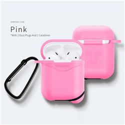 Waterproof Mountaineering Anti-fall Silicone Protective Case for Apple AirPods - Pink