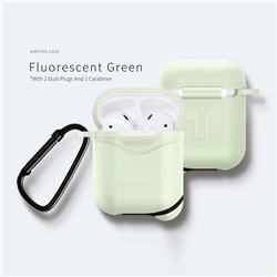 Waterproof Mountaineering Anti-fall Silicone Protective Case for Apple AirPods - Fluorescence Green