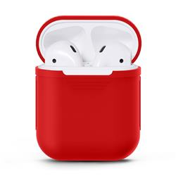 Matte Anti-fall Silicone Protective Case for Apple AirPods - Red