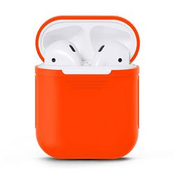 Matte Anti-fall Silicone Protective Case for Apple AirPods - Orange