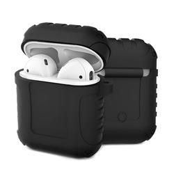 Shockproof Anti-fall Armor Silicone Case for Apple AirPods - Black