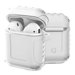 Shockproof Anti-fall Armor Silicone Case for Apple AirPods - White
