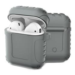 Shockproof Anti-fall Armor Silicone Case for Apple AirPods - Gray