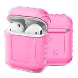 Shockproof Anti-fall Armor Silicone Case for Apple AirPods - Pink