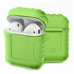 Shockproof Anti-fall Armor Silicone Case for Apple AirPods - Dark Green