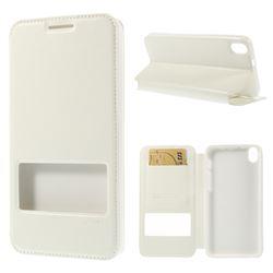 Roar Korea Noble View Leather Flip Cover for HTC Desire 816 D816 - White