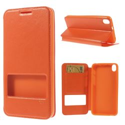 Roar Korea Noble View Leather Flip Cover for HTC Desire 816 D816 - Orange