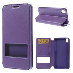 Roar Korea Noble View Leather Flip Cover for HTC Desire 816 D816 - Purple