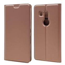 Ultra Slim Card Magnetic Automatic Suction Leather Wallet Case for FUJITSU Docomo Arrows Be3 F-02L - Rose Gold