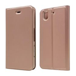 Ultra Slim Card Magnetic Automatic Suction Leather Wallet Case for FUJITSU Docomo Arrows Be F-04K - Rose Gold