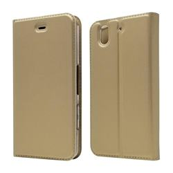 Ultra Slim Card Magnetic Automatic Suction Leather Wallet Case for FUJITSU Docomo Arrows Be F-04K - Champagne