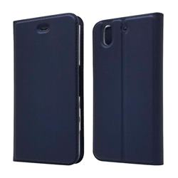 Ultra Slim Card Magnetic Automatic Suction Leather Wallet Case for FUJITSU Docomo Arrows Be F-04K - Royal Blue