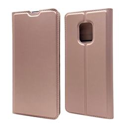 Ultra Slim Card Magnetic Automatic Suction Leather Wallet Case for FUJITSU Docomo Arrows 5G F-51A - Rose Gold