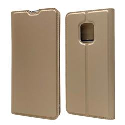 Ultra Slim Card Magnetic Automatic Suction Leather Wallet Case for FUJITSU Docomo Arrows 5G F-51A - Champagne