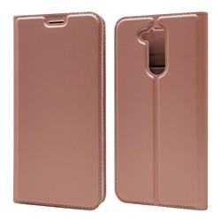Ultra Slim Card Magnetic Automatic Suction Leather Wallet Case for Docomo LG style2 L-01L (6.0 inch) - Rose Gold