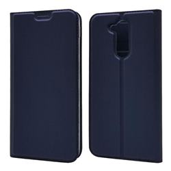 Ultra Slim Card Magnetic Automatic Suction Leather Wallet Case for Docomo LG style2 L-01L (6.0 inch) - Royal Blue