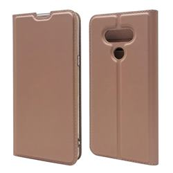 Ultra Slim Card Magnetic Automatic Suction Leather Wallet Case for LG style3 L-41A (Docomo) - Rose Gold