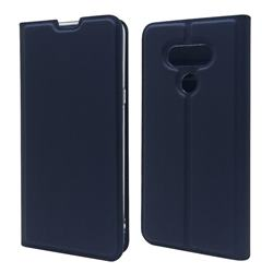 Ultra Slim Card Magnetic Automatic Suction Leather Wallet Case for LG style3 L-41A (Docomo) - Royal Blue