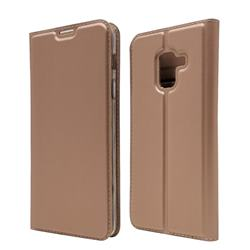 Ultra Slim Card Magnetic Automatic Suction Leather Wallet Case for Docomo Galaxy Feel2 SC-02L - Rose Gold