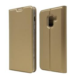 Ultra Slim Card Magnetic Automatic Suction Leather Wallet Case for Docomo Galaxy Feel2 SC-02L - Champagne