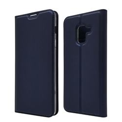 Ultra Slim Card Magnetic Automatic Suction Leather Wallet Case for Docomo Galaxy Feel2 SC-02L - Royal Blue