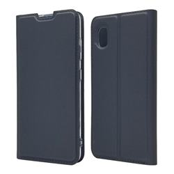 Ultra Slim Card Magnetic Automatic Suction Leather Wallet Case for Docomo Galaxy A20 (Japanese version, SC-02M, UQ) - Star Grey