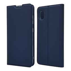 Ultra Slim Card Magnetic Automatic Suction Leather Wallet Case for Docomo Galaxy A20 (Japanese version, SC-02M, UQ) - Royal Blue