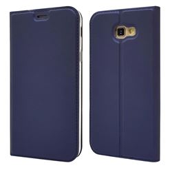Ultra Slim Card Magnetic Automatic Suction Leather Wallet Case for Docomo Galaxy Feel SC-04J - Royal Blue