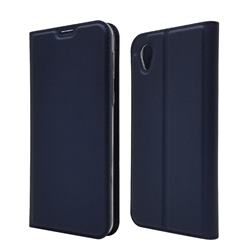 Ultra Slim Card Magnetic Automatic Suction Leather Wallet Case for Sharp AQUOS sense2 SH-01L SHV43 - Royal Blue
