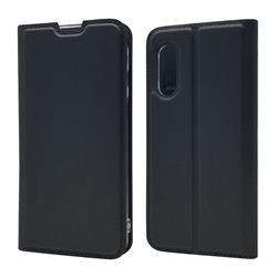 Ultra Slim Card Magnetic Automatic Suction Leather Wallet Case for Sharp AQUOS sense3 SH-02M SHV45 - Star Grey