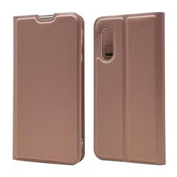 Ultra Slim Card Magnetic Automatic Suction Leather Wallet Case for Sharp AQUOS sense3 SH-02M SHV45 - Rose Gold