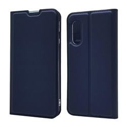 Ultra Slim Card Magnetic Automatic Suction Leather Wallet Case for Sharp AQUOS sense3 SH-02M SHV45 - Royal Blue