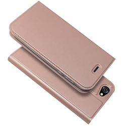 Ultra Slim Card Magnetic Automatic Suction Leather Wallet Case for Docomo AQUOS R SH-03J / SHV39 - Rose Gold