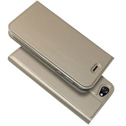 Ultra Slim Card Magnetic Automatic Suction Leather Wallet Case for Sharp AQUOS R SH-03J / SHV39 - Champagne