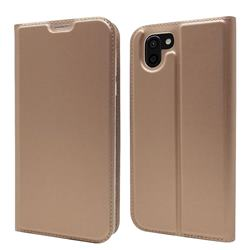 Ultra Slim Card Magnetic Automatic Suction Leather Wallet Case for Sharp AQUOS R2 SH-03K SHV42 - Rose Gold