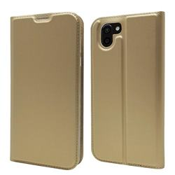 Ultra Slim Card Magnetic Automatic Suction Leather Wallet Case for Sharp AQUOS R2 SH-03K SHV42 - Champagne